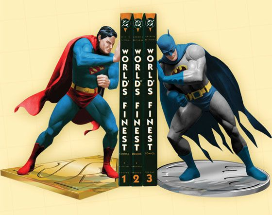 Superhero room bookends! I love batman but Superman's not my favorite. Maybe Catwoman leaning back against it?
