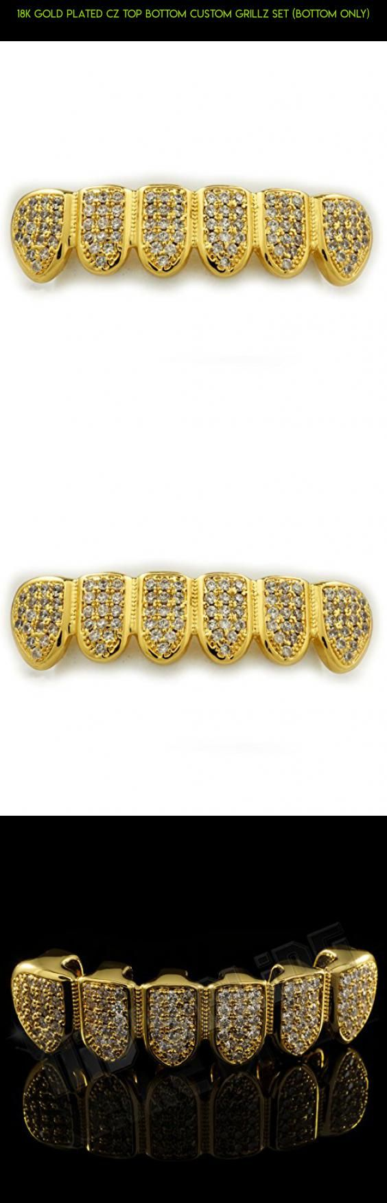 18K Gold Plated CZ Top Bottom CUSTOM GRILLZ SET (Bottom Only) #racing #parts #grills #gold #products #gadgets #plans #technology #fpv #shopping #camera #kit #tech #drone