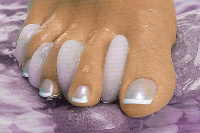 Unusual French Manicure! Love the silver/gray color Plus
