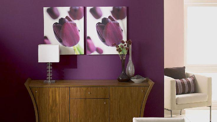 Comment associer la couleur aubergine en d coration - Peinture couleur aubergine ...