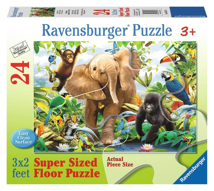Ravensburger - Jungle Juniors Super Sized 24-piece Floor Puzzle Perfect size and subject for a couple of growing kids #EntropyWishList #PinToWin