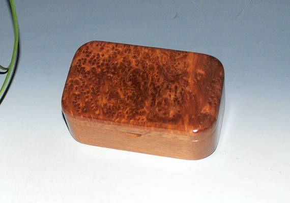 Wooden Trinket Box-Redwood Burl on Mahogany by BurlWoodBox- Small Wood Box-Wood Box-Wooden Box- Box-Wood Boxes-Small Wooden Boxes-Burl Boxes by BurlWoodBox