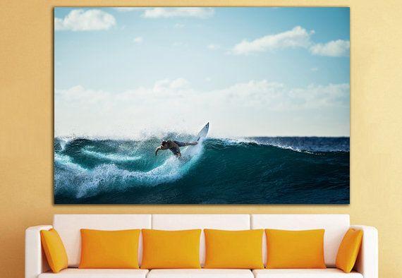Surfen-Leinwand Surfen Wand Dekor Surfen Wandkunst Surfen