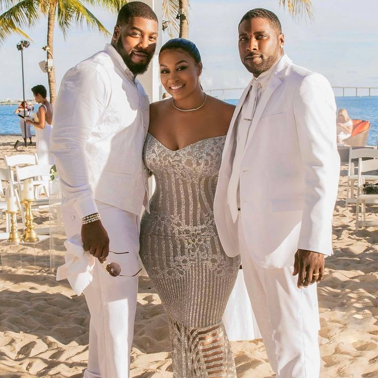 African American Wedding Ideas: The Beautiful Bride @rah_ali With Her Brothers Jamal And