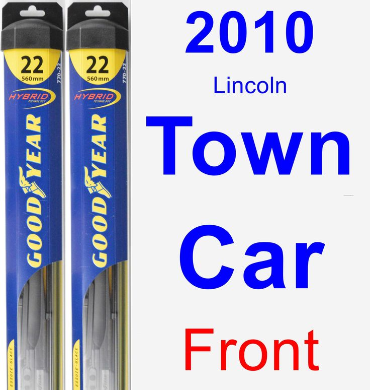 Front Wiper Blade Pack for 2010 Lincoln Town Car - Hybrid