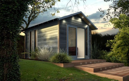 contemporary prefab studios by Decorated Shed: Gardens Offices, Art Studios, Dual Offices, Prefab Studios, Offices Studios, Gardens Studios, Guest Houses, Contemporary Prefab, Backyard Offices