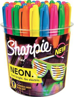 Staples®. has the Sharpie Neon Permanent Markers, Fine Point, Neon Colored Ink, 36/Pack you need for home office or business. FREE delivery on all orders over $45, plus Rewards Members get 5 percent back on everything!