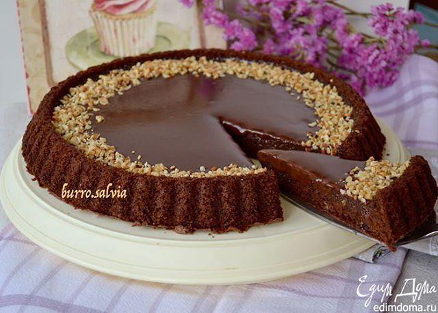 #Рецепт: Итальянский шоколадный торт «Джандуйя»  Бисквит: сахар — 150 г, сливочное масло — 50 г, шоколад — 100 г, мука — 100 г, разрыхлитель — 1 ч. л., яйца куриные — 3 шт. Шоколадный ганаш: сливочное масло — 50 г, шоколад — 200 г, сливки 33-35% — 200 мл. #едимдома #готовимдома #десерт #т орт #шоколад #шоколадныйторт #кондитер  #edimdoma #kitchen #instafood #instapic #eating #desert #pie #baker #tasty  Способ приготовления: 1. Для приготовления торта используем специальную форму для выпечки…
