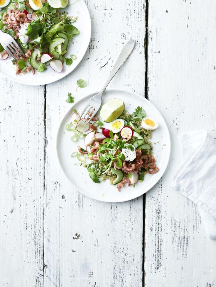 Garnalencocktail met quinoa en komkommer