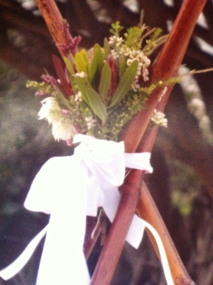 Beach wedding teepee with natives by Banora flowers