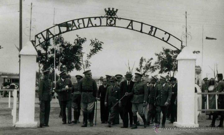 CRÍA CABALLAR. LARACHE. ACTUAL MARRUECOS. MILITARES. AUTORIDADES. C. 1941 (Fotografía Antigua - Gelatinobromuro)