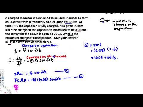 What is the maximum charge of the capacitor? -  EM Field and Photons