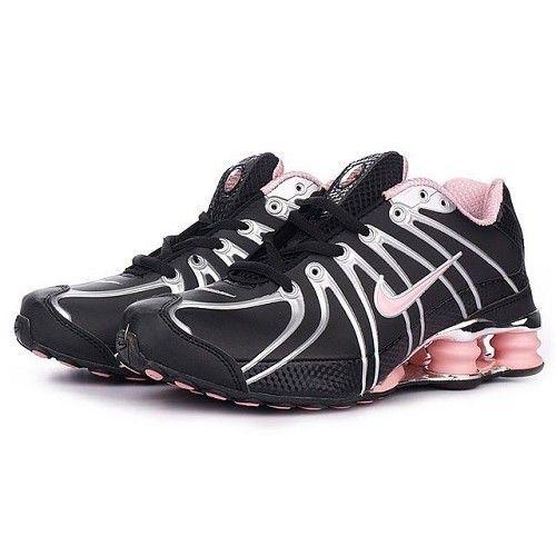 nike+shox+women | Nike Shox OZ Black Metallic Silver Pink Women Shoes [