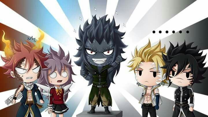 Gajeel lol. And is that supposed to be Wendy next to Natsu?