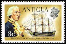 Antigua 244 Stamp Viscount Hood and Barfleur Stamp C ANT 244-1 MNH