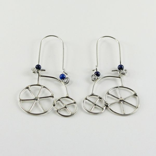 Bisiklet Küpe (Bicycle Earrings) - ZFRCKC Jewelry Design - www.zfrckc.com