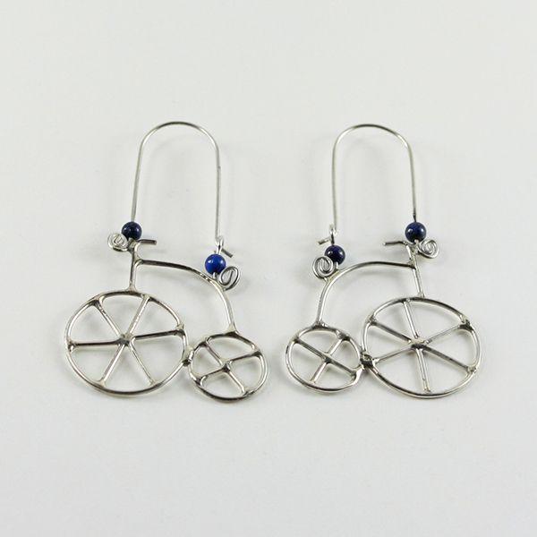 Bisiklet Küpe (Bicycle Earrings) - ZFRCKC Jewelry Design - www.zfrckc.com
