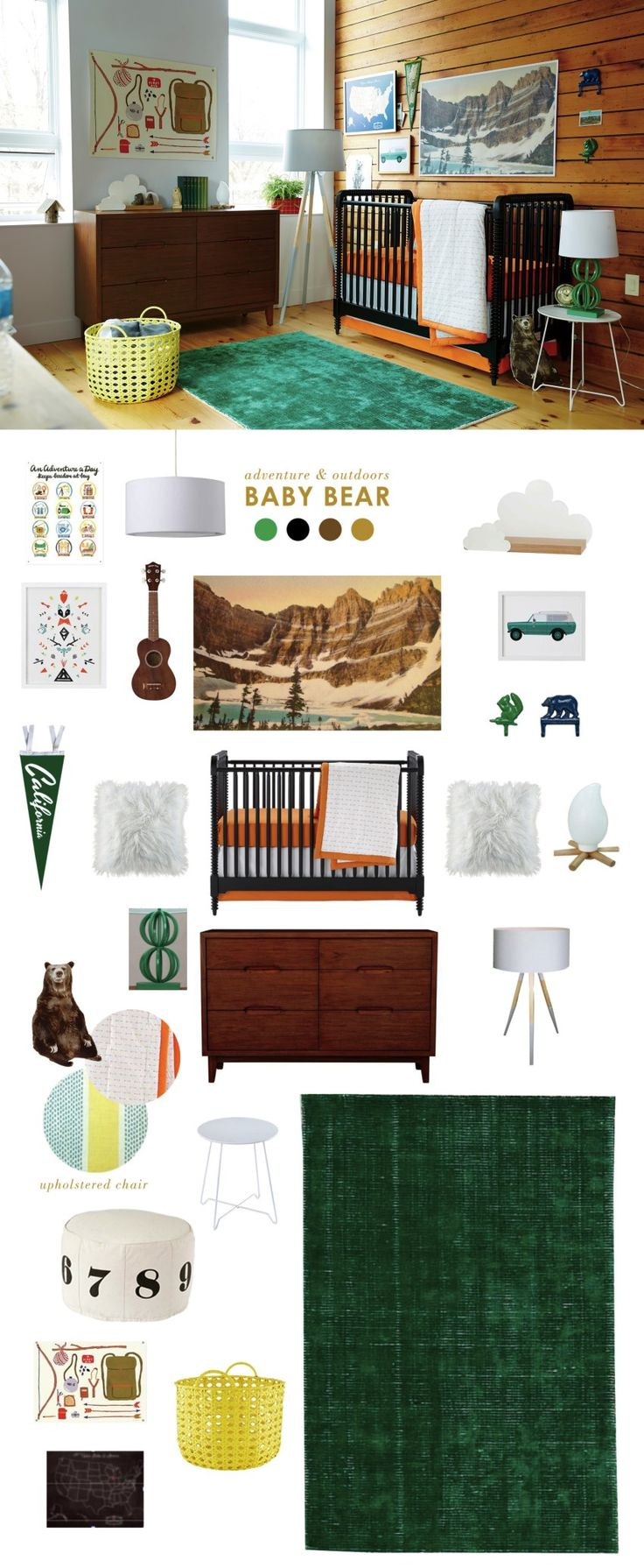 Baby Bear nursery - adventure and outdoors themed! This design grows with baby.
