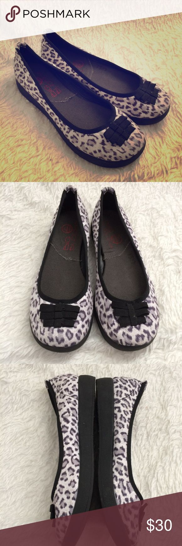 BIG BUDDHA ballet flat leopard SZ 8 like new Display shoe from Big Buddha, style is called Betty. Cute leopard print ballet flat with slight platform. Fabric upper. Size 8. Sbx8 Big Buddha Shoes Platforms