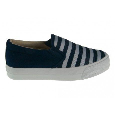 TRAMPKI SLIP-ON D.BLUE