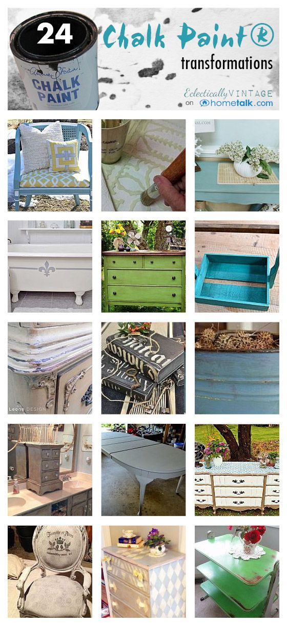 Chalk Paint 101 - the No Prep Wonder Paint! - see tons of transformations on furniture, fabric, metal ...
