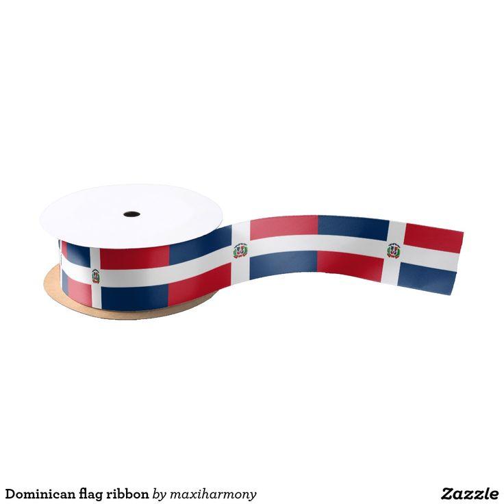 Dominican flag ribbon satin ribbon