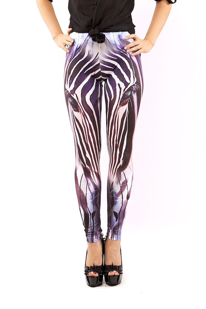 ZEBRA LEGGINGS FOR WOMEN – MOLEECO CLOTHING Perfectly printed leggings with the unique moleeco motives They really fit great!  Composition: 82% Polyester / 18% Spandex Garment Care: Washing Machine :) Print placement may vary. Handling Time: up to 8 working days