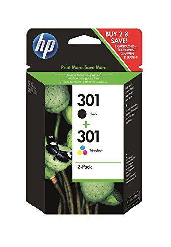 2x Cartouches d'encre Originales pour Imprimante HP Deskjet 3050S – Noir+Tri-Colour: Includes black and tri colour ink cartridges Black ink…