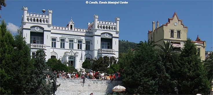 Neogothic style #Kavala Town Hall and the Municipal Garden#Greece