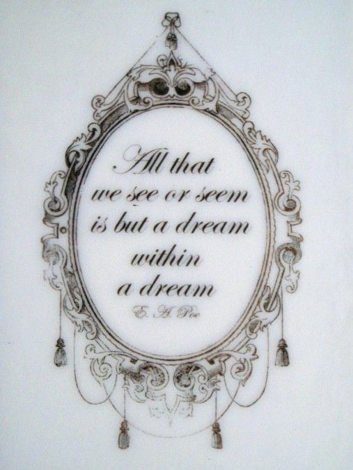 ... see or seem is but a dream within a dream - E. A. Poe Quote Encaustic