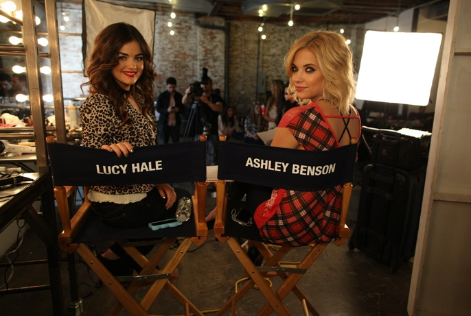 Go behind-the-scenes with Lucy Hale and @Ashley Walters Benson on the set of their Bongo photoshoot