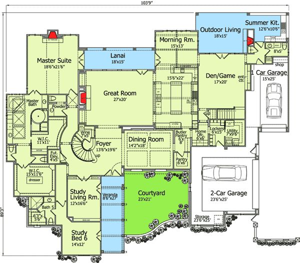 Floor 1 floorplans pinterest tudor european house for Game room floor plans ideas