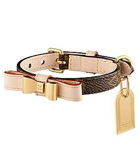 when only the best will do... Louis Vuitton Baxter XS Dog Collar:)