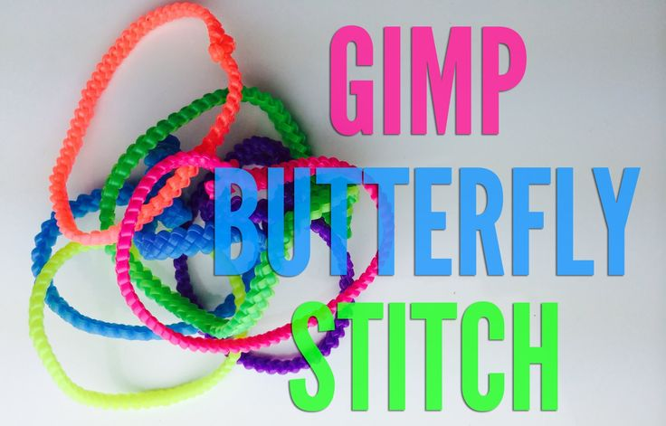 How to Make a Butterfly Gimp Bracelet - Step by Step Tutorial