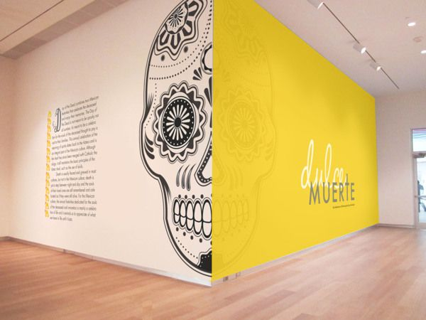 Dulce Muerte Museum Exhibition and Promotional Design by Veronica Silva Morales, via Behance