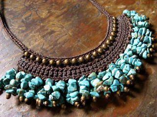 Ethnic Style Turquoise Necklace: