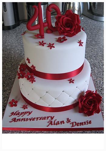 cool 40th Wedding Anniversary Cakes for Historical Moment