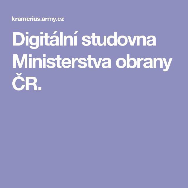 Digitální studovna Ministerstva obrany ČR.