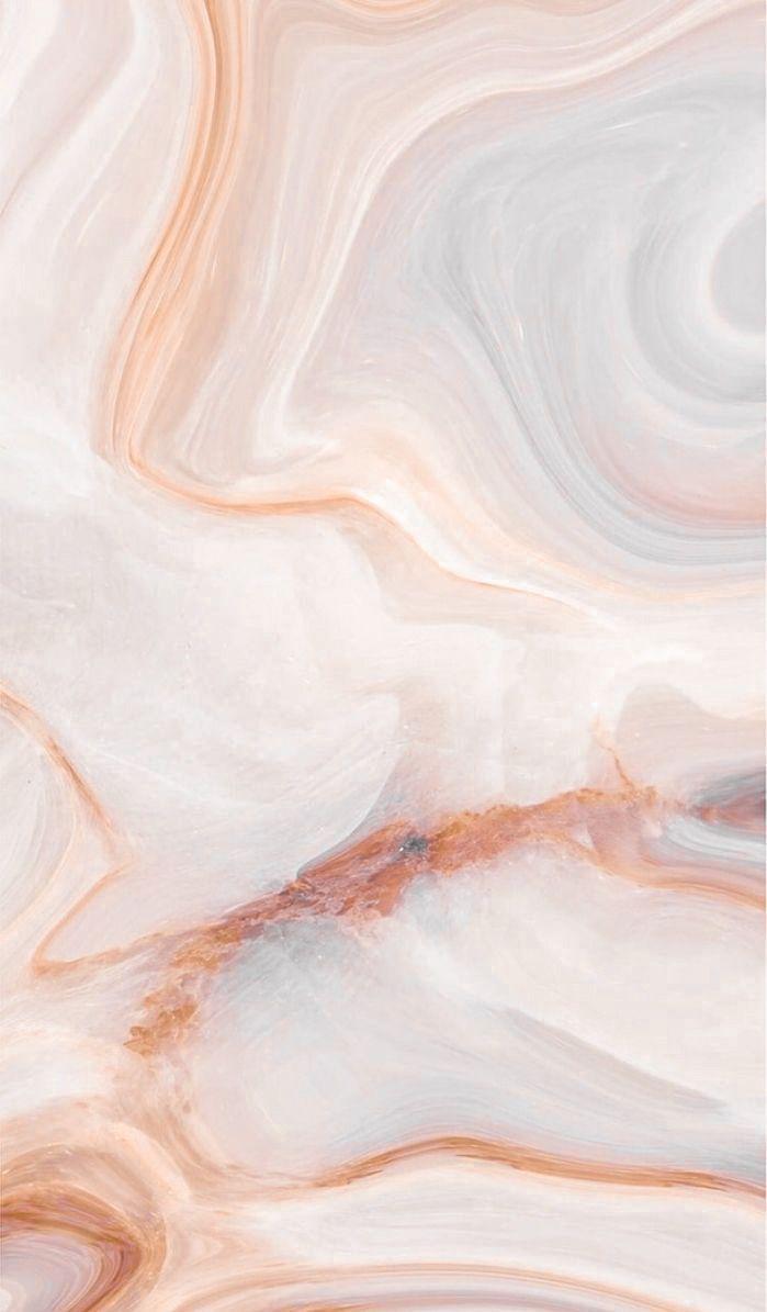 Peachy With Faint Teal Hues Marble Wallpaper Credi