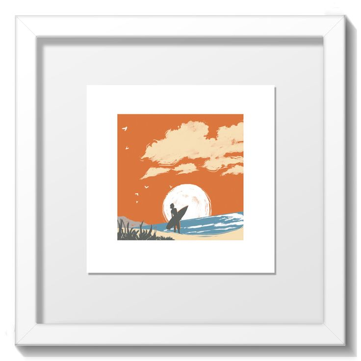 """Limited Edition Screenprint by Gee Gilang Hale from the """"Home"""" range. Print size 94mm x 94mm on paper stock 148mm x 148mm Final Framed size 20cm x 20cm. White frame only. http://www.yippeei.com/shop/home-prints/home-by-gee-gilang-hale"""