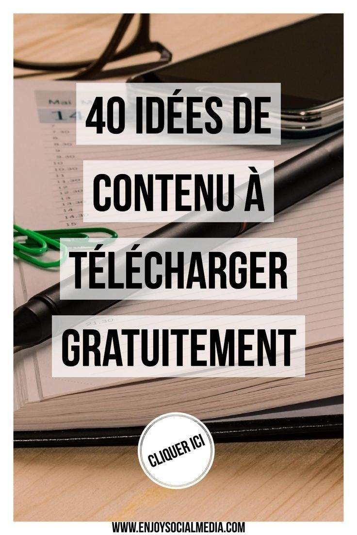 Vous cherchez des idées de contenu pour publier sur votre blog ? J'ai rassemblé 40 idées de contenu à télécharger gratuitement ! N'hésitez pas à le télécharger !