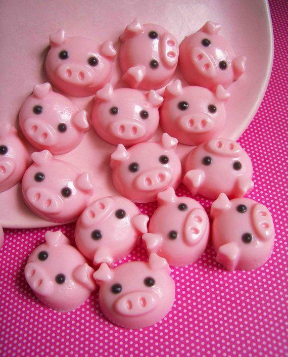 Strawberry Pig Soap Set by LoveLeeSoaps on Etsy, $6.00