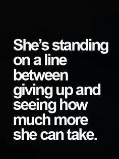 shes standing on a line