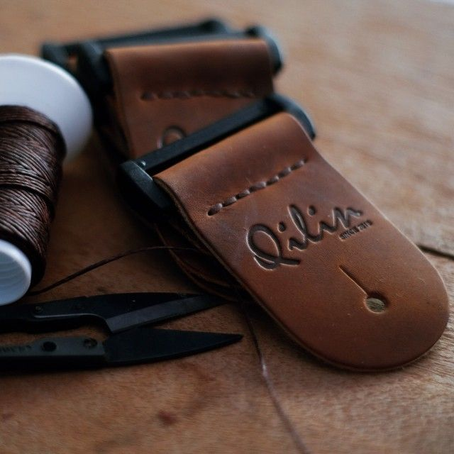 Our Process#guitarist #product #Qilinlibrary #guitarstrap #bassstrap #bass #musician #Music #Leather #diy#Handmade #Handcraft