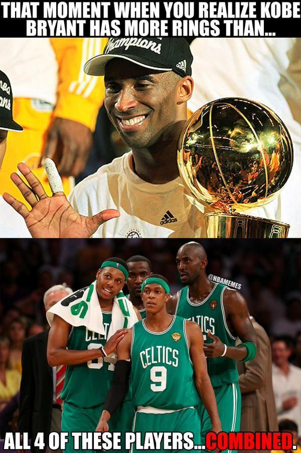 Kobe Bryant vs. The Boston Celtics. #RingsEdition - http://nbafunnymeme.com/nba-memes/kobe-bryant-vs-the-boston-celtics-ringsedition