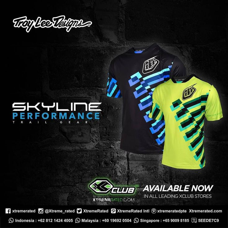 Troy Lee Designs Skyline Jerseys  Availaible now at XClub leading stores!  #xclubmalaysia #xtremerated #troyleedesigns #skyline #jerseys #mtb #bike