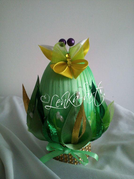 Easter egg  kanzashi style Meadow от KanzashiStyl на Etsy