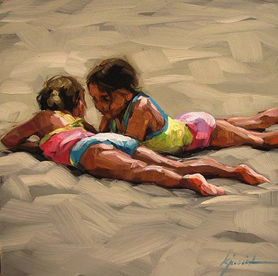 """To make a difference in someone's life you don't have to be brilliant, rich, beautiful, or perfect.  You just have to care.""""  Artist:  KARIN JURICK Sashalea beach   <3 lis"""
