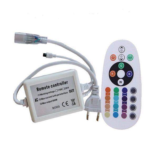 Wireless AC220V RGB 24 Key IR Remote Controller For SMD5050 LED Strips