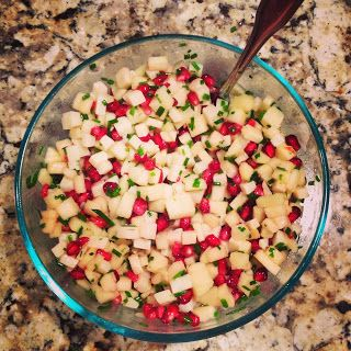 Apple, Pomegranate, Manchego & Chive Salad:: Ruby Red Slippers in an ...